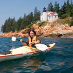 Kayaking at Bass Harbor Head Light