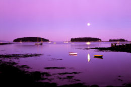 Tenants Harbor Maine moonrise