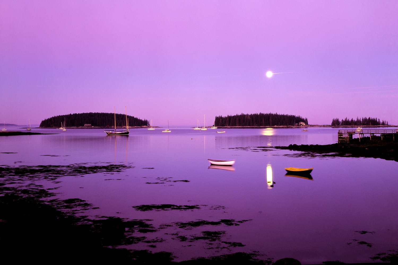 Tenants Harbor Maine moonrise